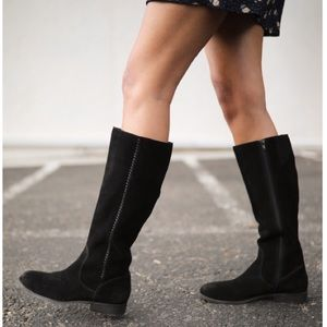 Frye & Co Jolie Whip Tall Suede Knee High Boot